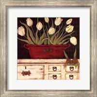 Framed White Cupboard