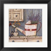 Framed Herbs & Watering Can