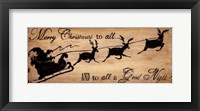 Framed Merry Christmas To All