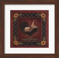Framed Sunflower Rooster I