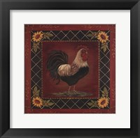 Sunflower Rooster I Framed Print