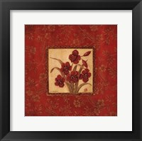 Framed Orchids In Red