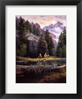 Framed Lure of Rockies