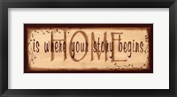 Framed Home Is Where Your Story Begins