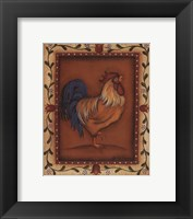 Framed Gold Rooster