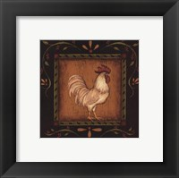 Framed White Rooster I