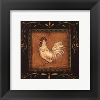 Framed White Rooster II