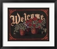 Framed Welcome - Flower Pots