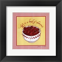Framed Bowl of Cherries