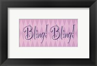 Bling! Bling! Framed Print
