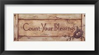 Framed Count Your Blessings