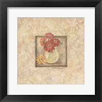 Framed Gerbers in Vase - red flowers
