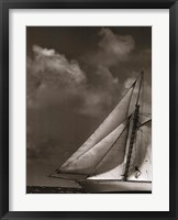 Framed Sepia Sails II