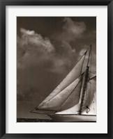 Sepia Sails II Framed Print