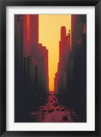 Framed Skyscrapers at Sunset