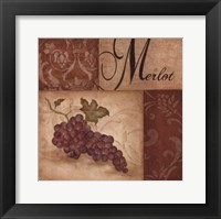 Framed Merlot Grapes