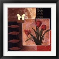 Framed Rose/Butterfly