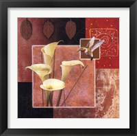 Framed Calla Lily/Butterfly