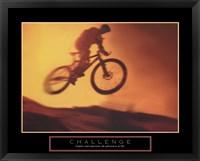 Challenge - Bike Framed Print