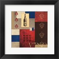 Framed Vino in Blue I