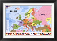 Framed Map Of Europe