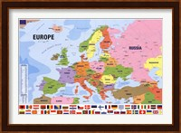 Framed Map Of Europe