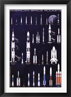Framed American Space Rockets