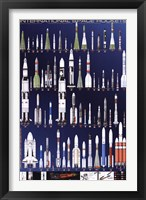 Framed International Space Rockets