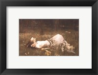Framed Ophelia (lying in the meadow), 1905