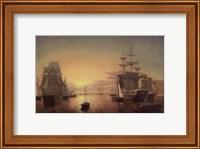 Framed Boston Harbor, about 1850-55