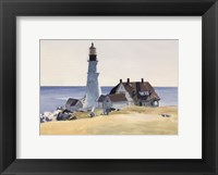 Framed Lighthouse and Buildings, Portland Head, Cape Elizabeth, Maine, 1927