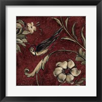 Framed Crimson Songbird # 3