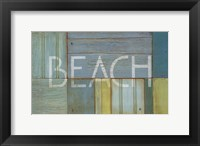 Framed Beach Sign