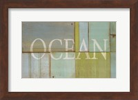 Framed Ocean Sign