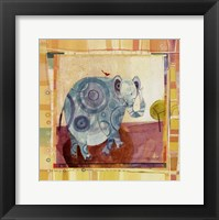 Framed Playful Elephant