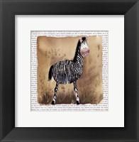 Framed Zebra on Safari