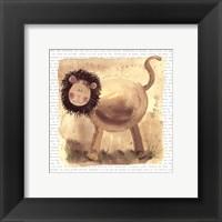 Framed Lion on Safari