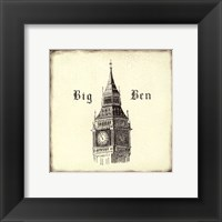 Framed Big Ben Tile