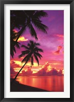 Framed Tahitian Sunset