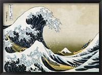 Framed Great Wave off Kanagawa, c.1830