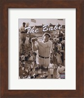 Framed Babe Ruth - Legends Of The Game Composite