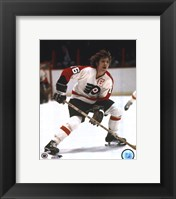 Framed Bobby Clarke one hand on stick