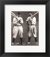 Framed Ty Cobb and Shoeless Joe Jackson