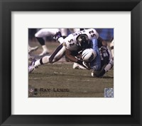 Framed Ray Lewis - 2000 Defensive Player of the Year