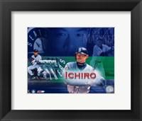 Framed Ichiro Suzuki - Composite (Horizontal)