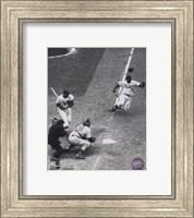 Framed Jackie Robinson - baseball action