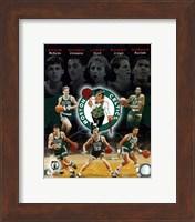 Framed Boston Celtics Big Five Legends Composite