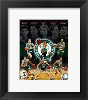 Framed Boston Celtics Big Five Legends Composite