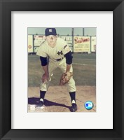 Framed Mickey Mantle - #12 Hands on Knees (young)