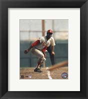 Framed Lou Brock - On Base